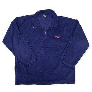 Polo Sport Ralph Lauren Vintage USA Pullover Fleece Blue 1/4 Zip Sweater USA XL